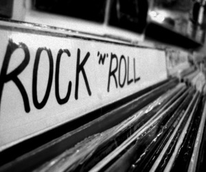 b&w, rock, and rock n roll image