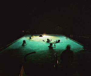 pool, summer, and night image