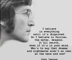 john lennon, text, and the beatles image
