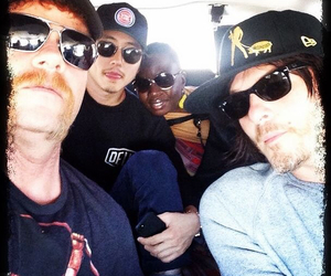 norman reedus, steven yeun, and the walking dead image