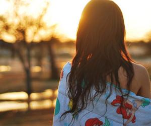 girl, hair, and sun image