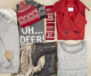 fashion, outfit, and christmas image