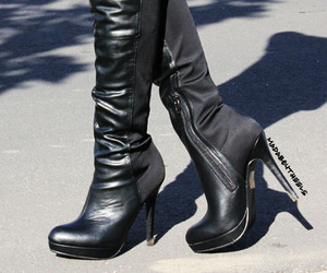 boots, fashion, and high heels image
