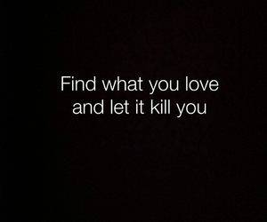 black, kill, and love image