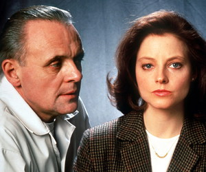 hannibal lecter, clarice starling, and silence of the lambs image