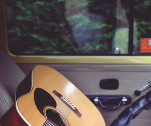 guitar, music, and car image