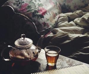 tea, vintage, and flowers image