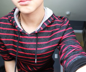 boy, striped sweater, and sweaters image