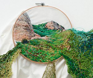 art, embroidery, and thread image