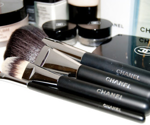 chanel, makeup, and Brushes image