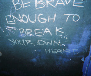brave, heart, and quote image