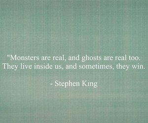 quotes, monster, and Stephen King image