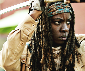 the walking dead and michonne image