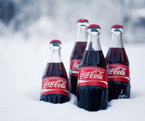 coca cola, snow, and coke image