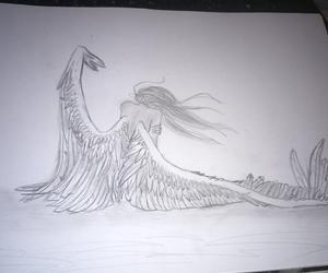 angel, fallen, and girl image