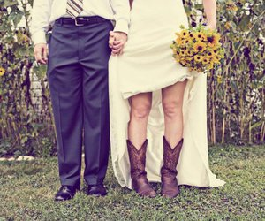 wedding, boots, and cowboy image