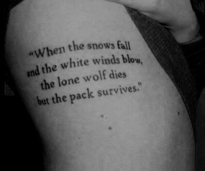 tattoo, game of thrones, and quote image