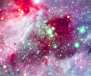 galaxy, stars, and pink image