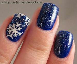 blue, christmas, and nails image