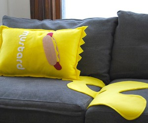 etsy, mustard, and pillow image