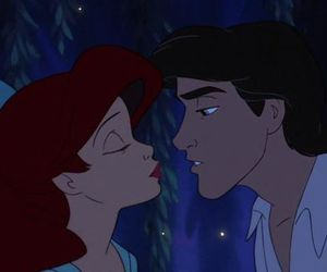 ariel, disney, and kiss image