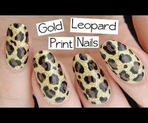 animal print, leopard print, and nail art image