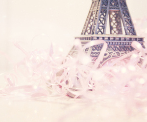 paris, eiffel tower, and pink image