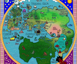 map, game of thrones, and westeros image