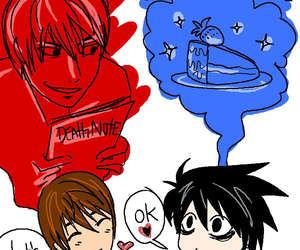 anime, L, and cartoon image