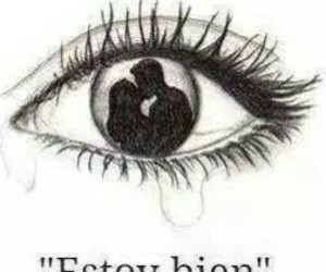 estoy bien, cry, and eye image