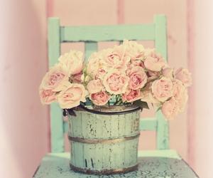 vintage, flowers, and pastel image