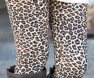 boots, leggings, and leopard image