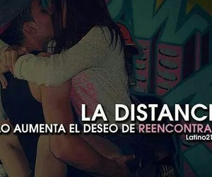 distancia, amor, and frases image