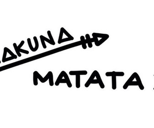 overlay, arrow, and hakuna matata image