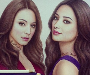 pll, drawing, and pretty little liars image