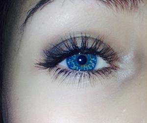 blue, eye, and eyebrow image