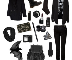 androgynous, casual, and dark image