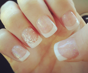 nails, winter, and white image