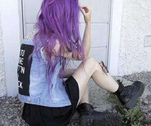 hair, indie, and grunge image