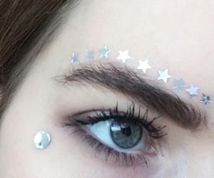 stars, grunge, and eyes image