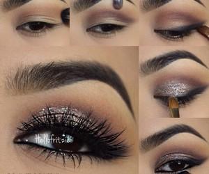 makeup, eye makeup, and eyelashes image