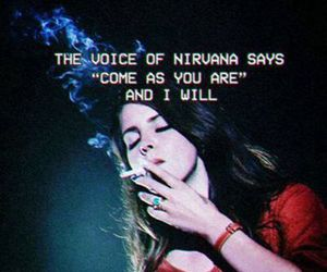 lana del rey, nirvana, and grunge image