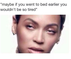 funny, beyoncé, and bed image