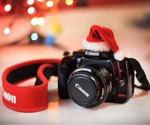 christmas, canon, and camera image