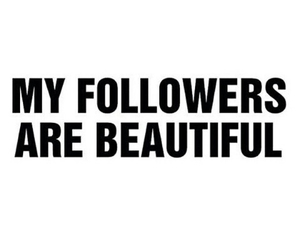 followers, beautiful, and thanks image