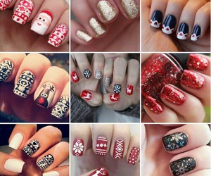 nails, christmas, and style image