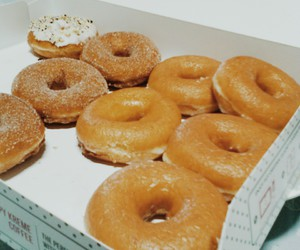 donuts, krispy kreme, and food image