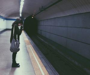 girl, grunge, and alone image
