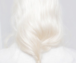 beautiful, hair, and white image