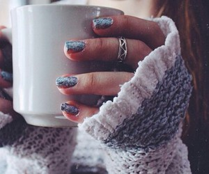 nails, coffee, and sweater image